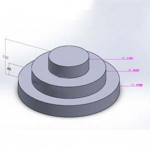 Pièce montée ronde 3 étages 12cm en polystyrène