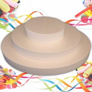Pièce montée ovale 3 étages 18cm en polystyrène
