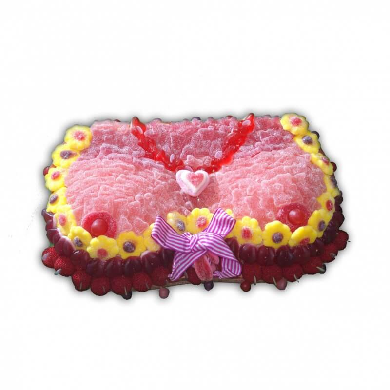 Gâteau coquin en bonbons