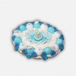 Gâteau naissance garçon en bonbons