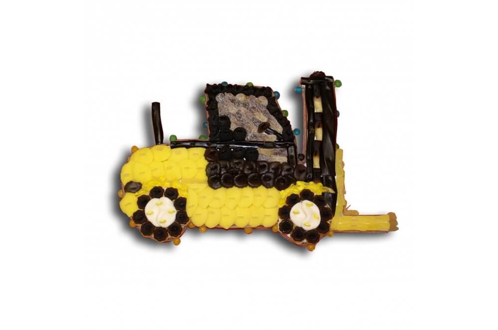 Chariot élévateur en bonbons