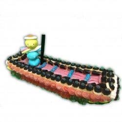 Barque en bonbons
