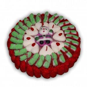 Gâteau de Noël en bonbons