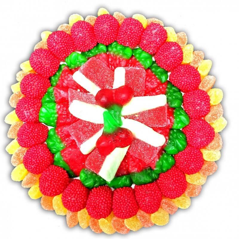 Tarte aux bonbons fruits