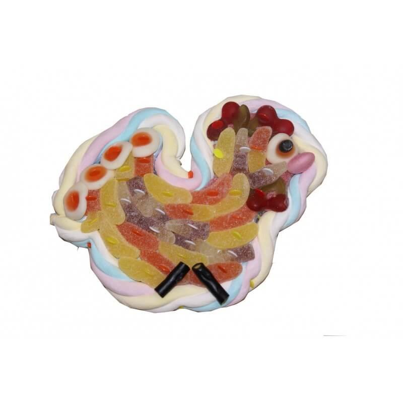 Petite poule en bonbons