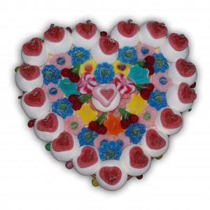 Cœur love en bonbons