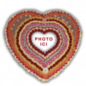 Coeur halal en bonbons avec photo