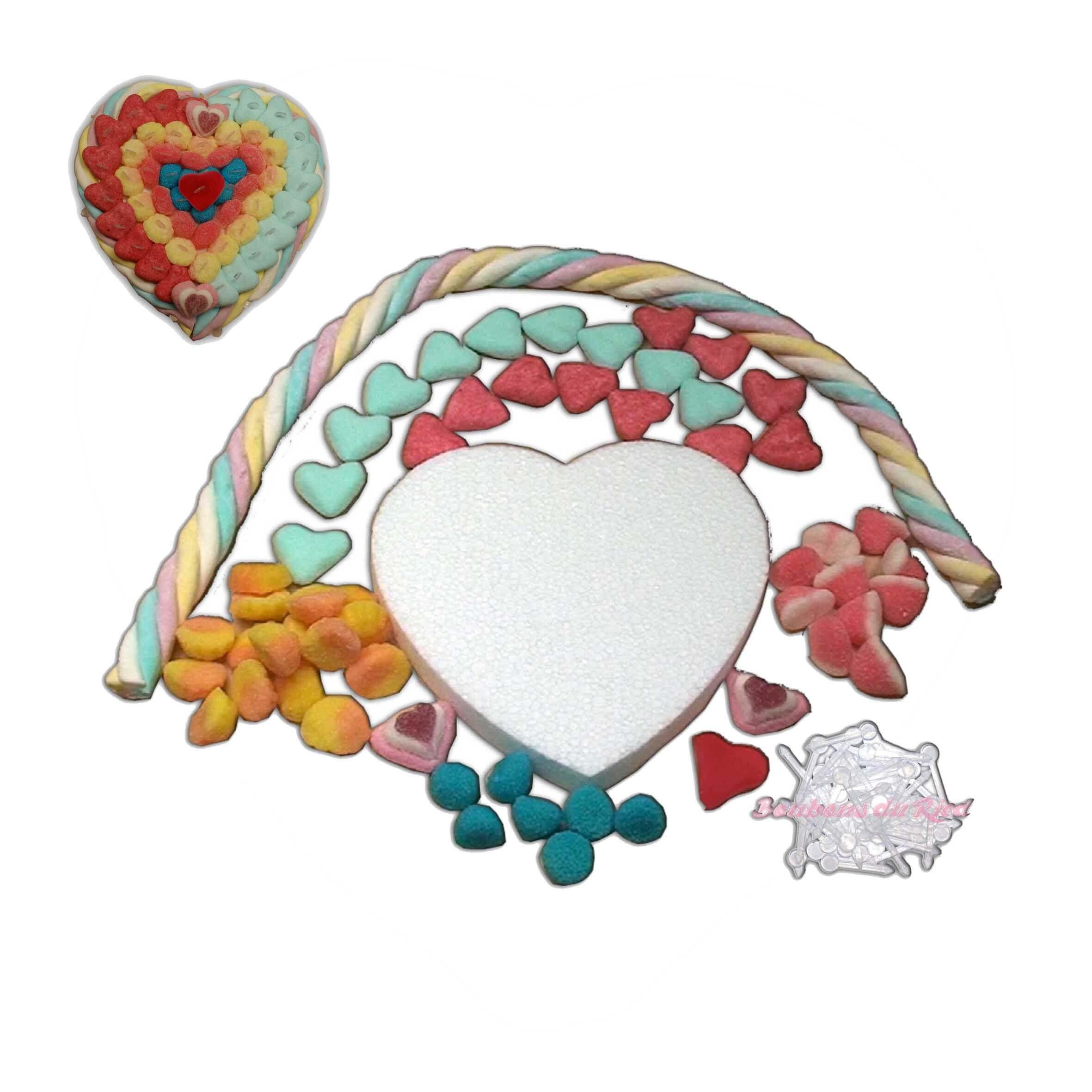 Kit créatif cœur en bonbons