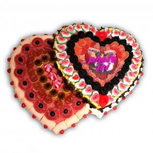 Double cœur en bonbons halal