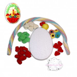 Kit créatif Œuf de Pâques en bonbons