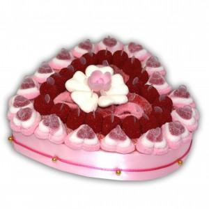 Cœur élégance en bonbons