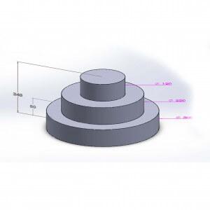 Pièce montée ovale 3 étages 24cm en polystyrène