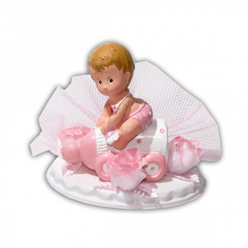 Embase avec bébé rose