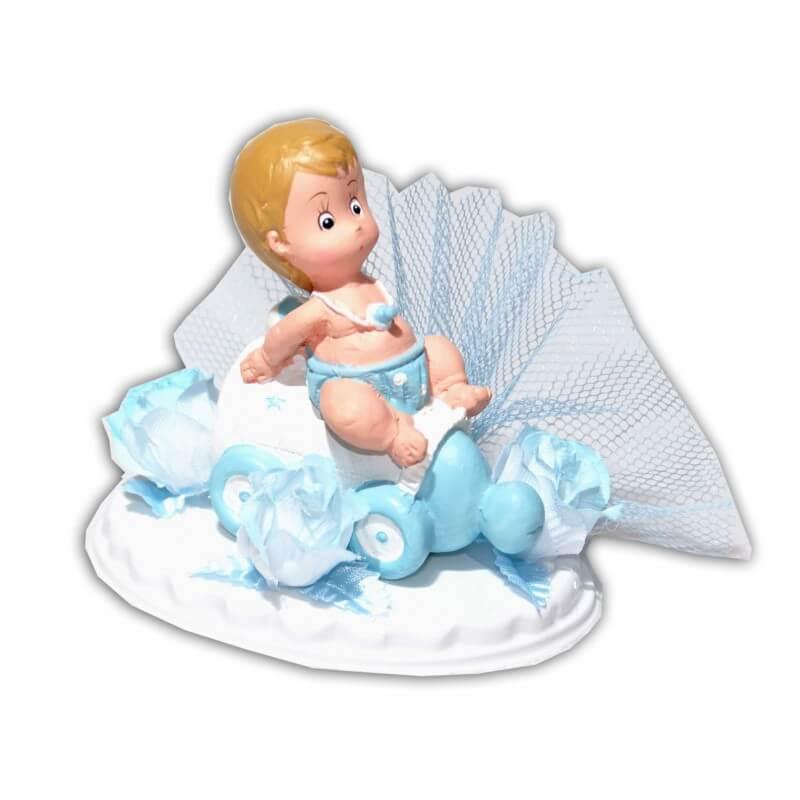 Embase avec bébé bleu