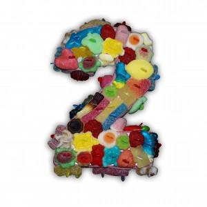 Chiffre en bonbons Halal 2D