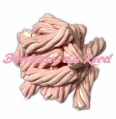 Guimauve torsadée rose