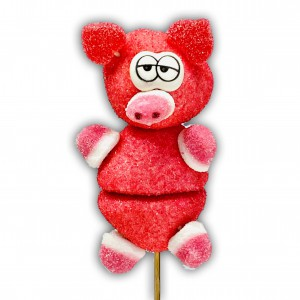 Brochette en bonbons cochon