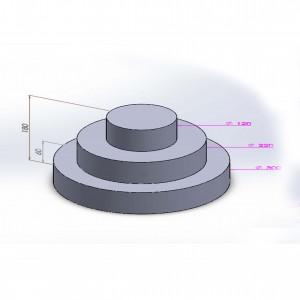 Pièce montée ovale polystyrène