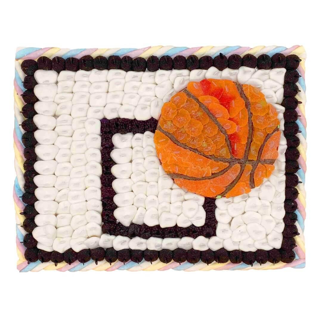 gateau bonbon panier basket