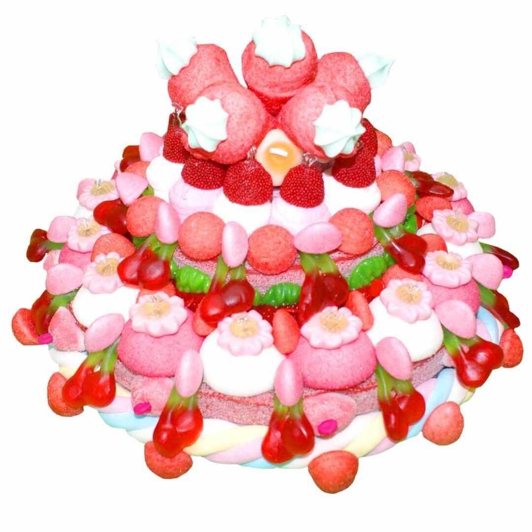 Gateau en bonbons fraise