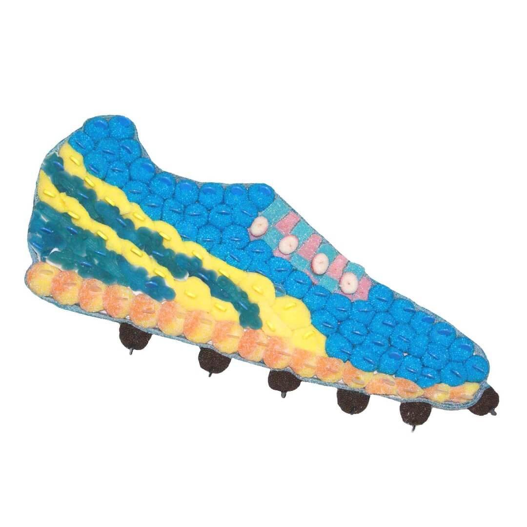 Chaussure de football en bonbons