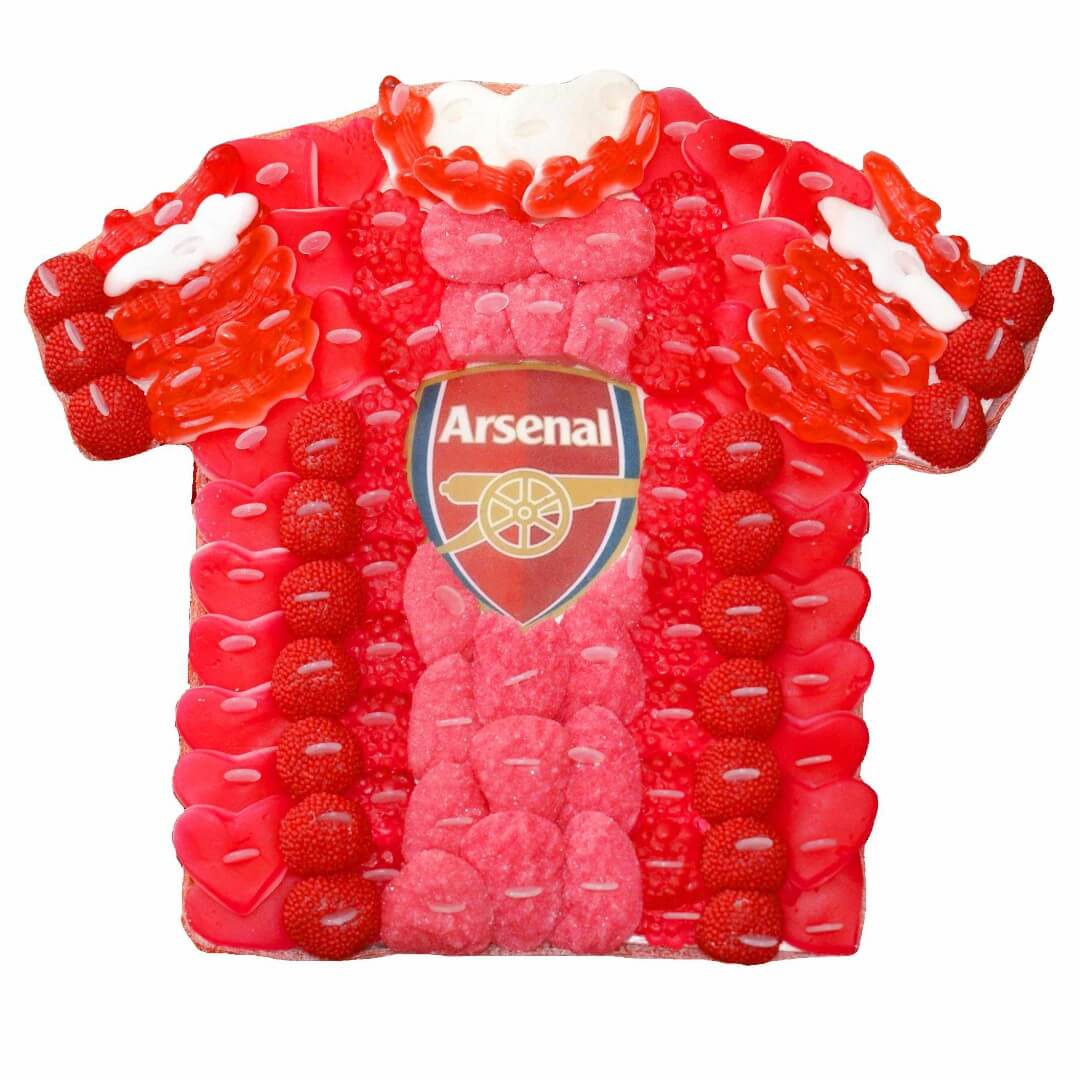 gâteau de bonbons maillot de football personnalisable