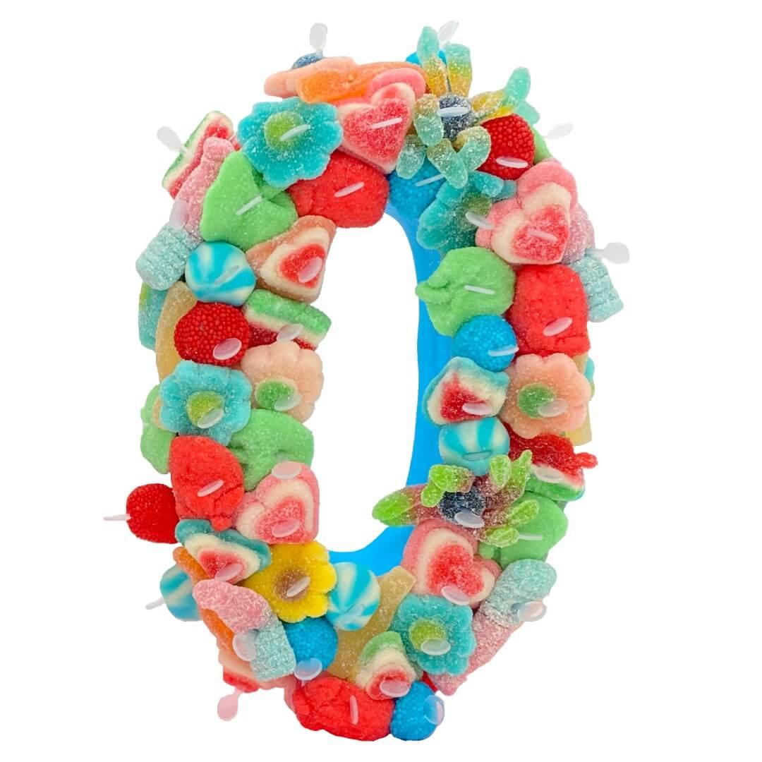Gâteau chiffre en bonbons pour anniversaire