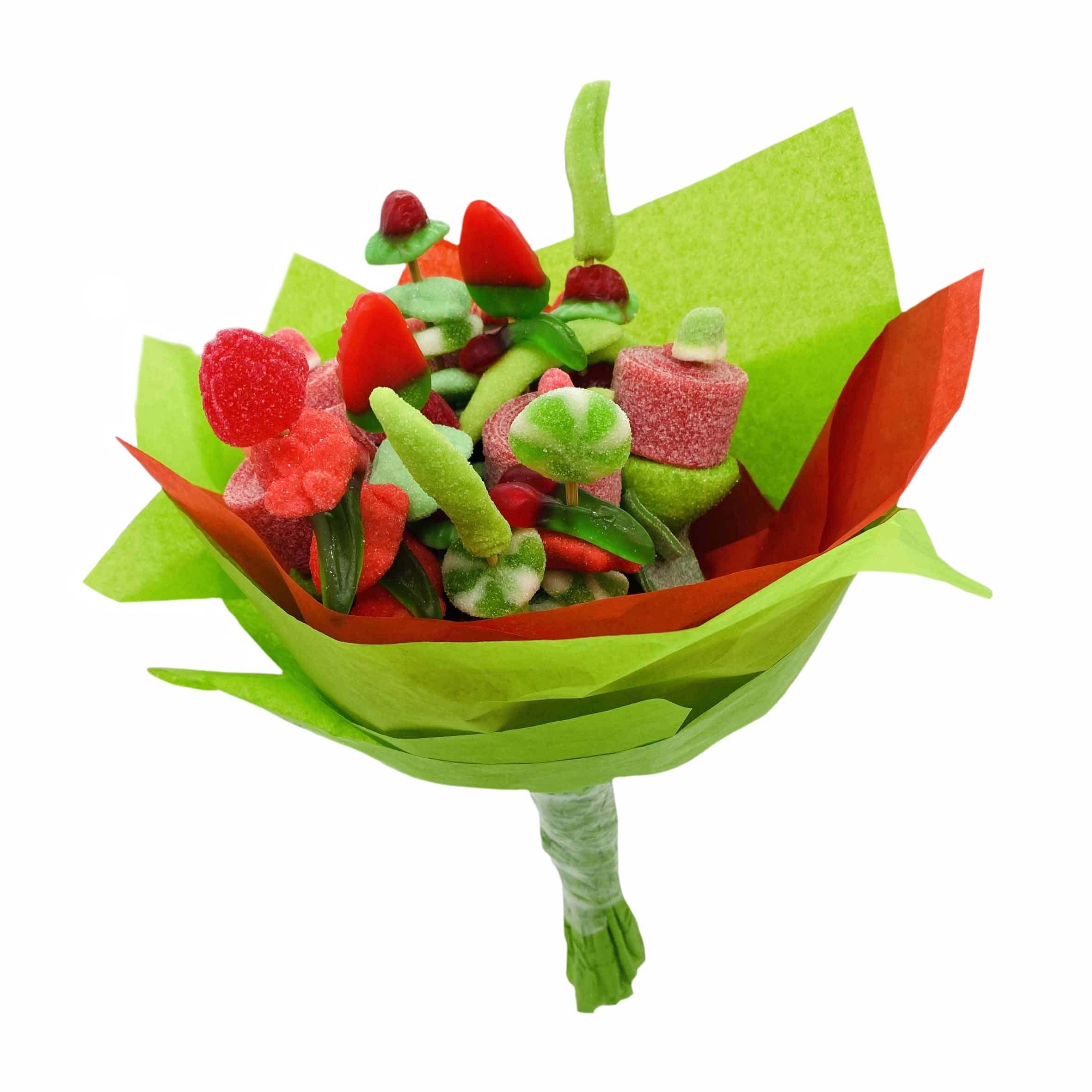 Bouquet de bonbons en forme de fleur