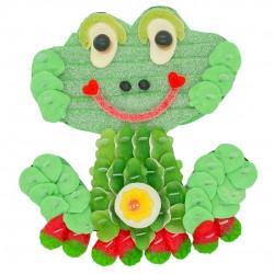 gâteau de bonbons grenouille verte