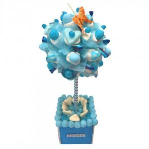 Arbre à bonbons bleus