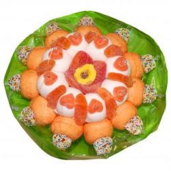 Bouquet en bonbons orange