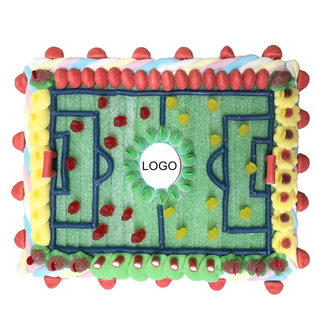 Terrain de football en bonbons personnalisable - Bonbons du Ried