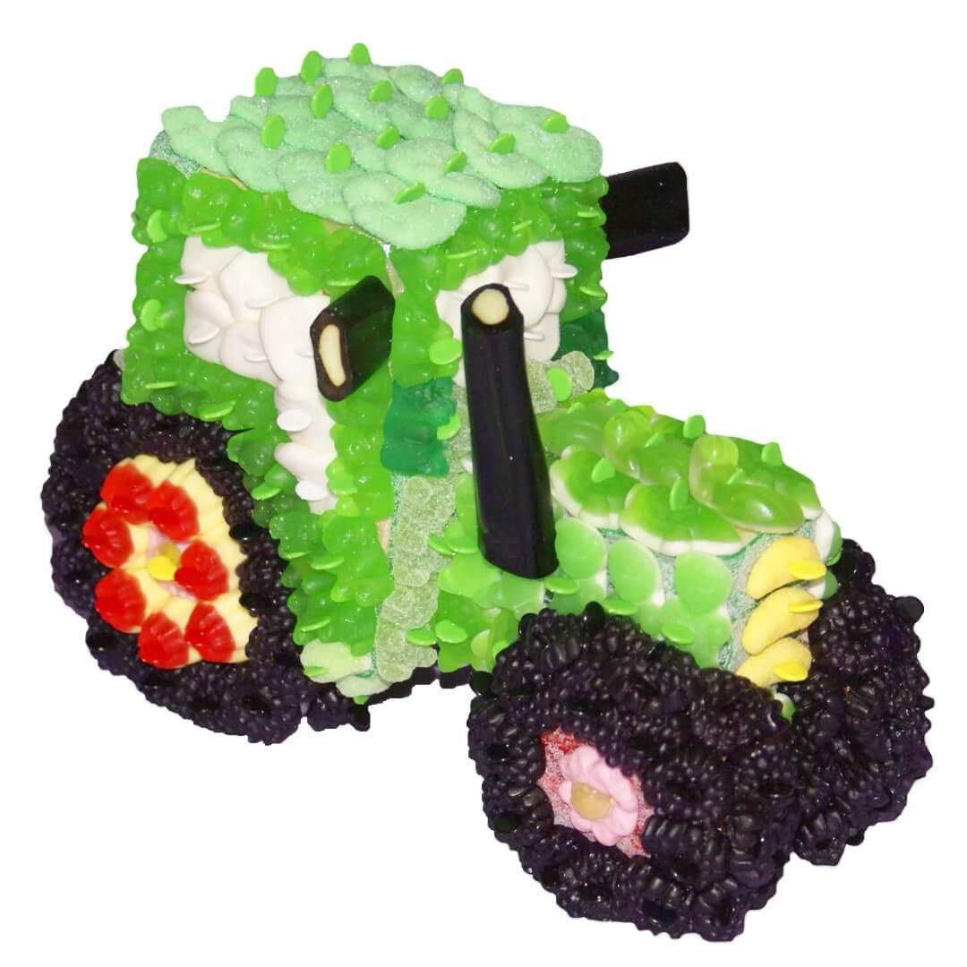 Tracteur en bonbons 3D