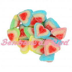 Cœurs tricolores multicolores