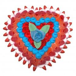 Cœur de rose en bonbons