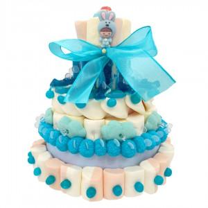 Gâteau Baptême garçon en bonbons