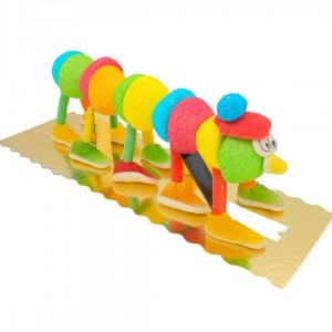 Brochette en bonbons Chenille
