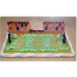 Terrain de basket en bonbons