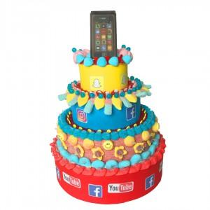 Gâteau réseaux sociaux