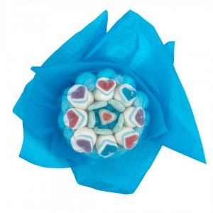 Bouquet bonbons azur
