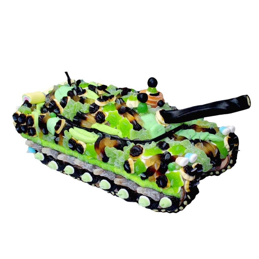 Char militaire en bonbons