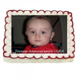Photo azyme pour gâteau rectangulaire