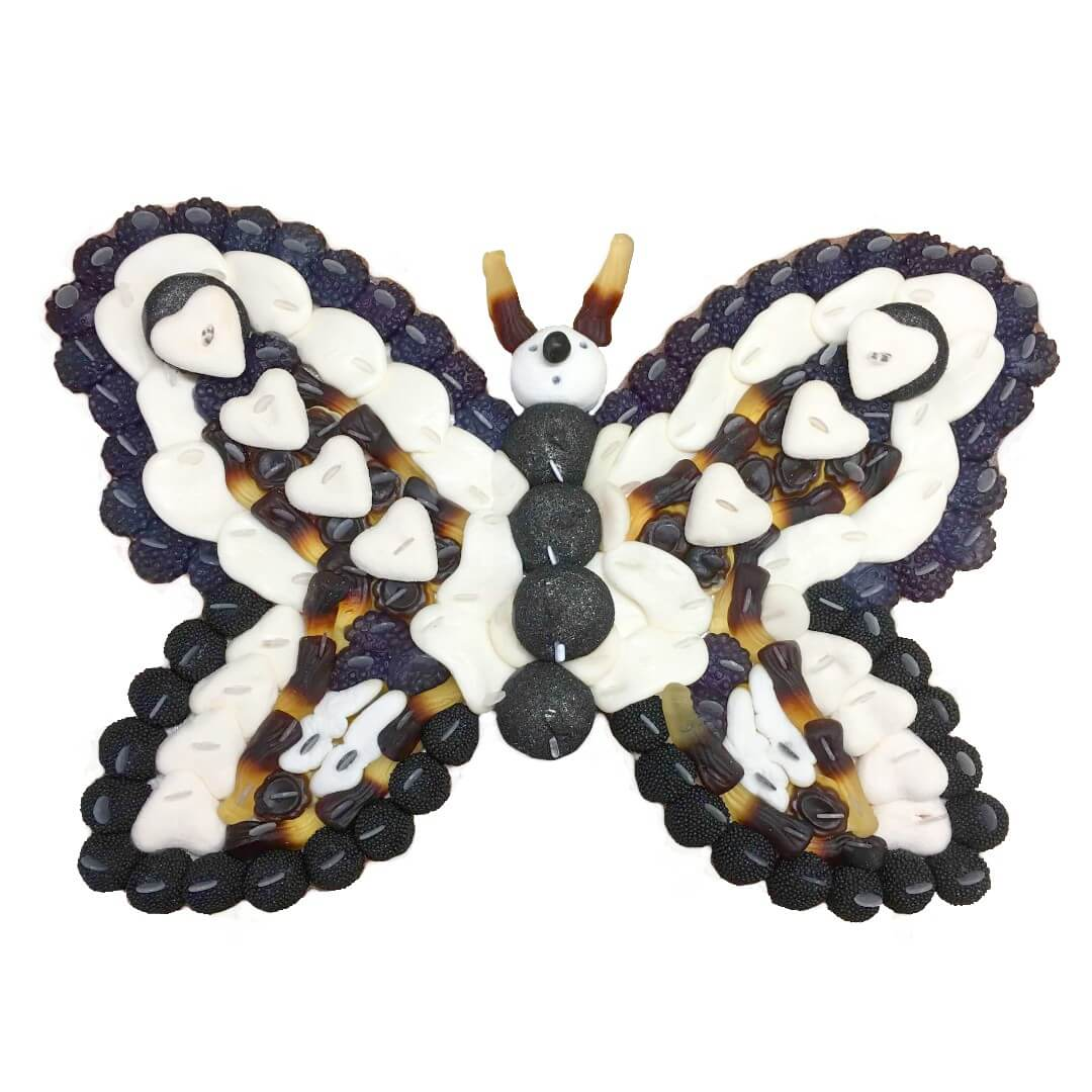 gateau-bonbon-papillon-noir-blanc