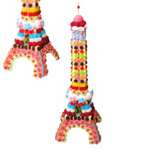 Tour Eiffel en bonbons