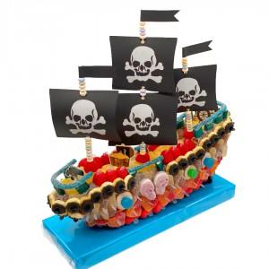 Bâteau pirates 3D en bonbons