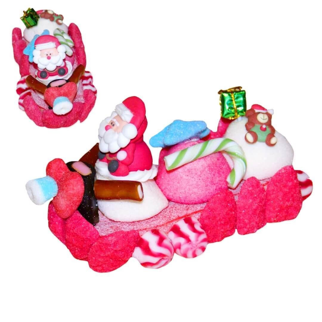 Traineau en bonbons du Père Noël