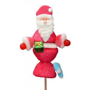 Brochette Père Noël en bonbons