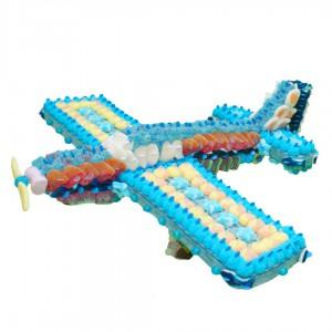 Avion en bonbons halal