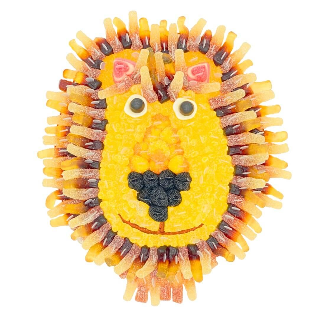 gateau-bonbons-lion-signe
