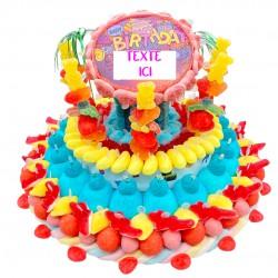 Gâteau d'anniversaire en bonbons